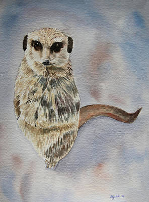 Painting - Colour Meerkat by Elizabeth Lock