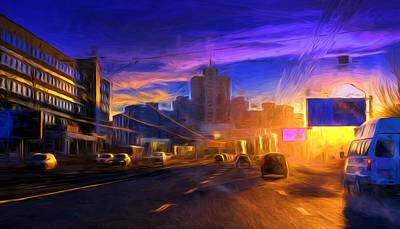 Photograph - Colour Urban Russian Highway And Sunrays by John Williams