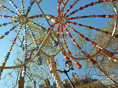 Installation Art Photograph - Colourful Canopy by Alex Cassels