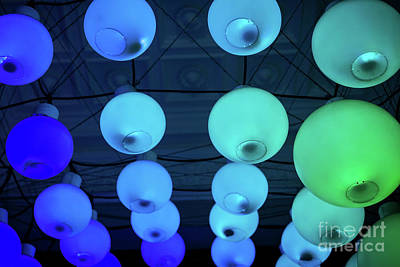 Photograph - Colourful Round Lights In Funky Interior Design Detail by Jacek Malipan