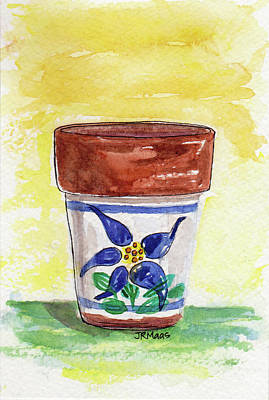 Painting - Columbine Container by Julie Maas