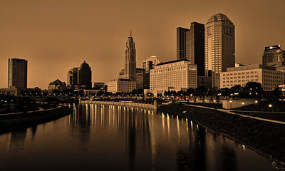 Photograph - Columbus Ohio At Sunset by L O C