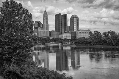 Photograph - Columbus Ohio Black And White by John McGraw