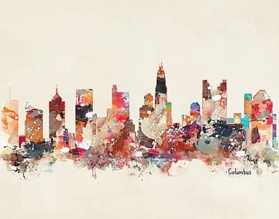 Painting - Columbus Ohio Skyline by Bri B