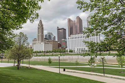 Photograph - Columbus Ohio Through The Trees by John McGraw