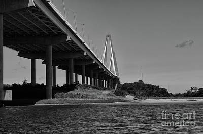Photograph - Bridge Columns By The Sea by Dale Powell