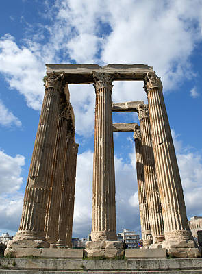 Photograph - Columns In Olympieion Greece Athens by Radoslav Nedelchev