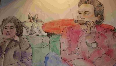 Painting - Comedians And Cats Album by Debbi Saccomanno Chan
