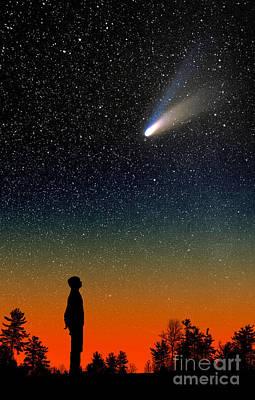 Hale-bopp Comet Photograph - Comet Hale-bopp by Larry Landolfi