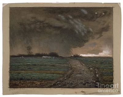 Coming Clouds Painting - Coming Storm  by MotionAge Designs
