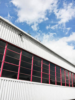 Red Roof Photograph - Commercial Building by Tom Gowanlock