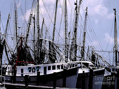 Photograph - Commercial Trawling Fleet - Gloucester Ma by Merton Allen