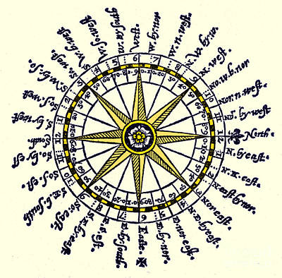Compass Rose, 1607 Art Print by Science Source