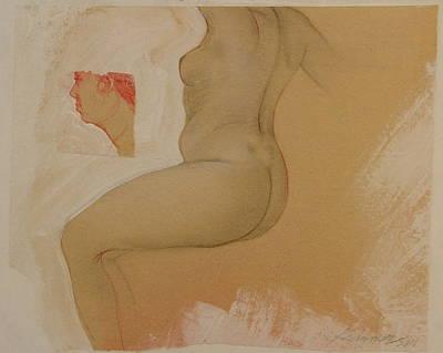 Composite Female Nude Art Print by Gary Kaemmer