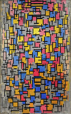 Piet Painting - Composition by Piet Mondrian
