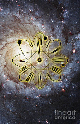 Intervals Photograph - Conceptual Illustration Of Atomic Clock by George Mattei