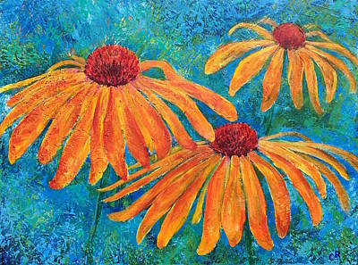 Painting - Coneflower Trio by Chris Rice