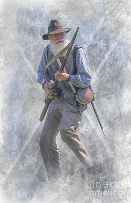 Digital Art - Confederate Veteran by Randy Steele