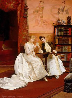 Bookshelf Painting - Confidences by Mountain Dreams