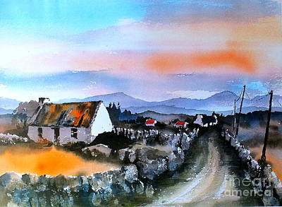 Painting - Connemara Sunset, Galway by Val Byrne