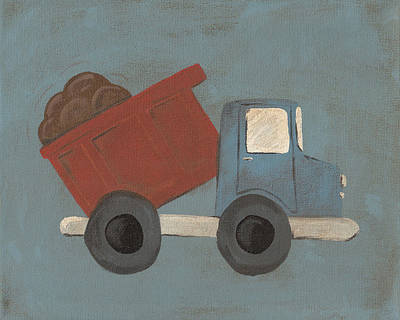 Painting - Construction Dump Truck Nursery Art by Katie Carlsruh