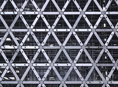 Photograph - Construction Site With Steel Facade by Yali Shi