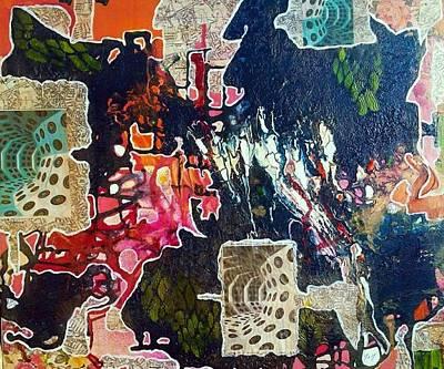 Digital Art - Contours by Jan Steadman-Jackson