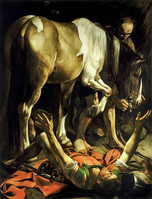 Michelangelo Painting - Conversion On The Way To Damascus by Caravaggio