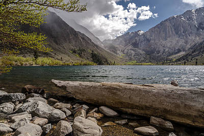 Cloudy Day Photograph - Convict Lake by Cat Connor