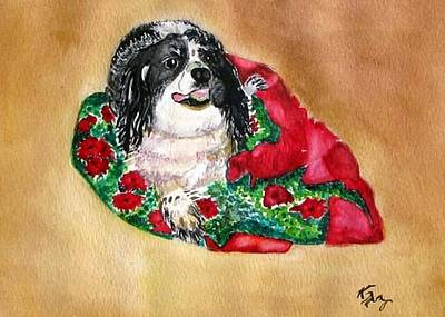 Black Cocker Spaniel Painting - Cookie  by Karla Mathey