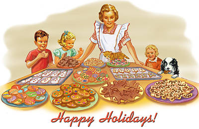 Cookies Art Print by Valer Ian