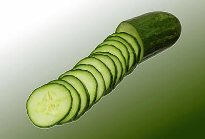 Photograph - Cool As A Cucumber Slices by David French