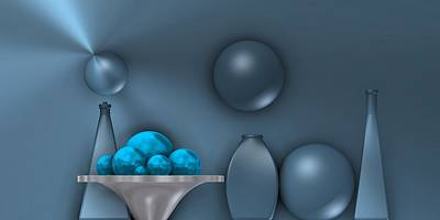 Relief Digital Art - Cool Still Life by Alberto RuiZ