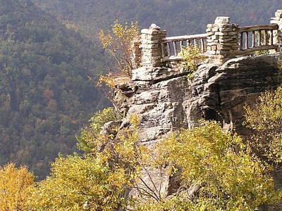 Cooper's Rock Overlook Print by Mark Lehar