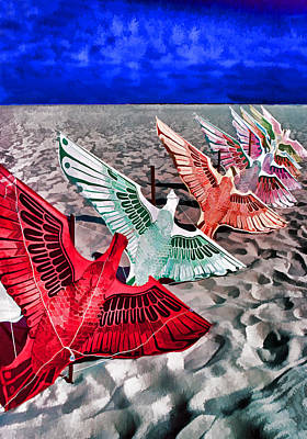 Copacabana Kites Art Print by Dennis Cox WorldViews
