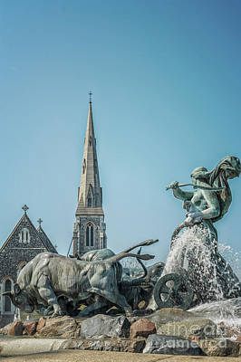 Kids Cartoons - Copenhagen Gefion Fountain by Antony McAulay