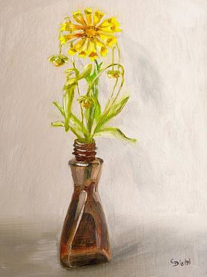 Painting - Coreopsis by Grace Diehl