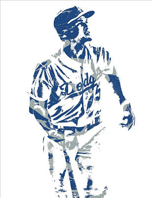 Mixed Media - Corey Seager Los Angeles Dodgers Pixel Art 10 by Joe Hamilton