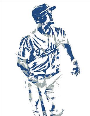 Los Angeles Dodgers Mixed Media - Corey Seager Los Angeles Dodgers Pixel Art 10 by Joe Hamilton
