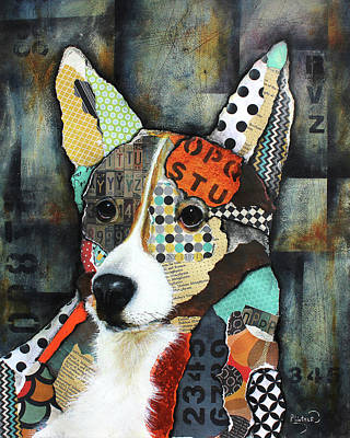 Mixed Media - Corgi  by Patricia Lintner