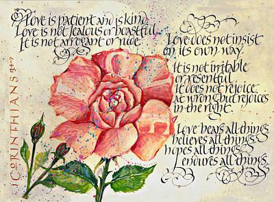 1 Corinthians 13 Art Print by Dave Wood