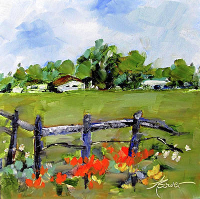 Painting - Corner Lot-texas Style  by Adele Bower