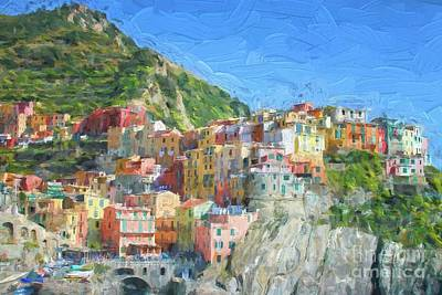 Digital Art - Corniglia In Italy by Patricia Hofmeester