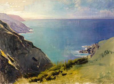Cornish Headlands Art Print by Abbott Handerson Thayer