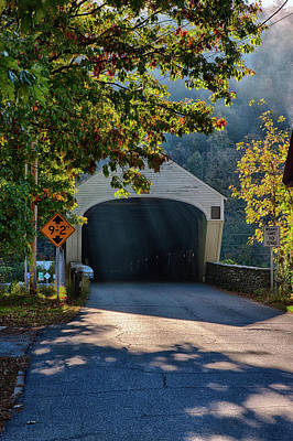 Photograph - Cornish-windsor Covered Bridge by Jeff Folger