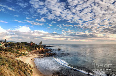 Photograph - Corona Del Mar Shoreline by Eddie Yerkish