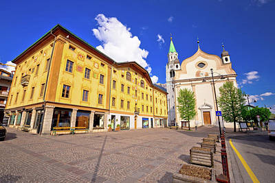 Photograph - Cortina D' Ampezzo Main Square Architecture View by Brch Photography