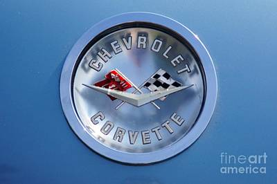 Photograph - Corvette Emblem by Neil Zimmerman