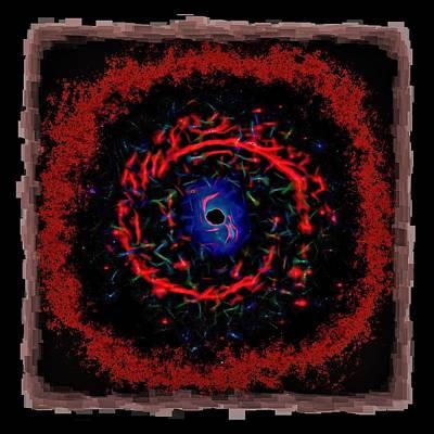 Digital Esoteric Photograph - Cosmic Eye 2 by John M Bailey