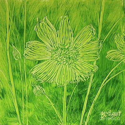 Travel - Cosmos In Green  by Barrie Stark